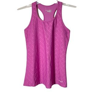Head Tank Top Athletic Workout Pink Purple Small